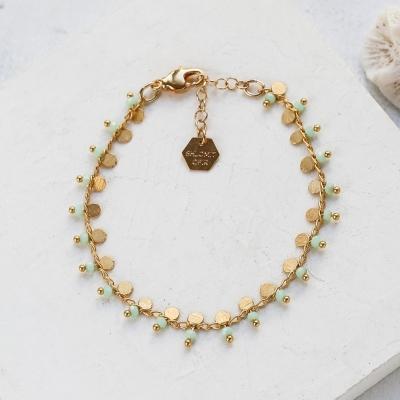 Bracelet Lexi vert doré