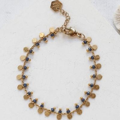 Bracelet Lexi bleu doré