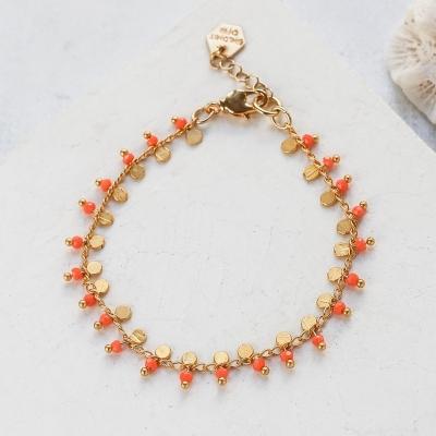 Bracelet Lexi corail doré