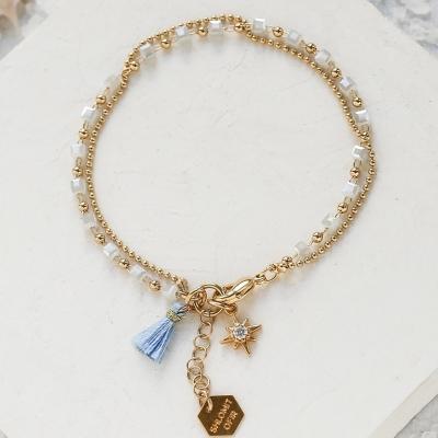 Bracelet Mythos bleu doré
