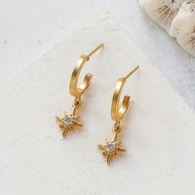 Boucles d'oreilles créoles Mythos dorées