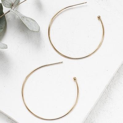 Boucles d'oreilles Aisha dorées à l'or fin