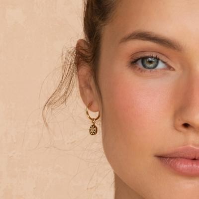 Boucles d'oreilles Ishtar dorées à l'or fin