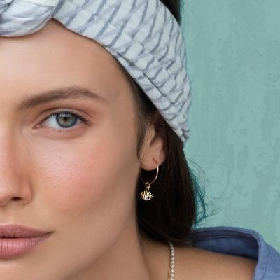 Boucles d'oreilles Nour dorées