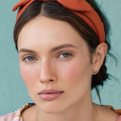 Boucles d'oreilles Sana dorées à l'or fin