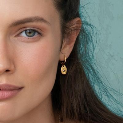 Boucles d'oreilles Rania dorées