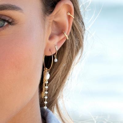 Boucles d'oreilles Ocean dorées à l'or fin
