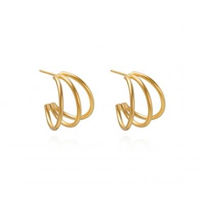 Boucles d'oreilles Ibiza dorés à l'or fin