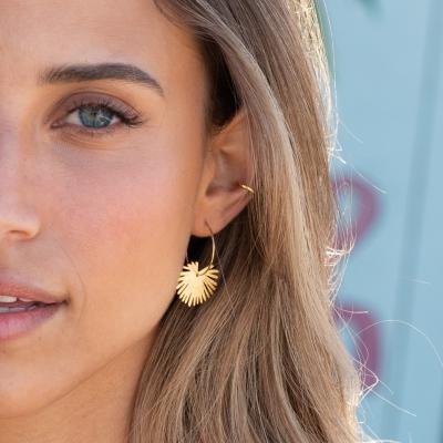Boucles d'oreilles Palma dorées à l'or fin