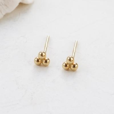 Boucles d'oreilles Dots dorés à l'or fin