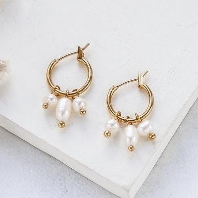 Boucles d'oreilles Playa dorées à l'or fin