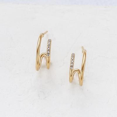 Boucles d'oreilles Kirra dorés à l'or fin