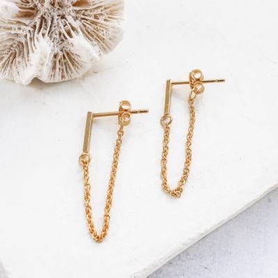 Boucles d'oreilles Kassia dorées à l'or fin