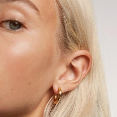 Boucles d'oreilles Medium Cloud dorées