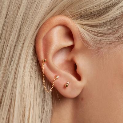 Boucles d'oreilles Musketeer dorées à l'or fin