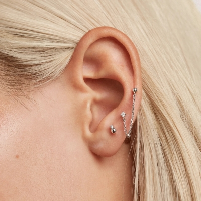 Boucles d'oreilles Musketeer argent