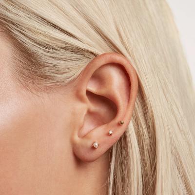 Boucles d'oreilles Angel dorées à l'or fin