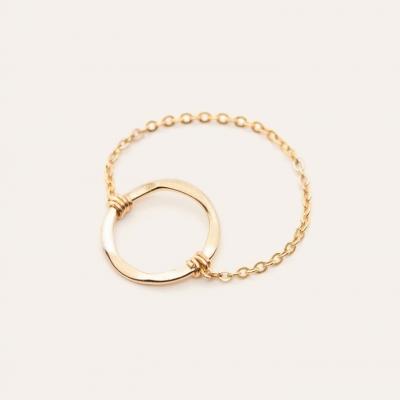 Bague chaîne essentiel anneau or jaune sans pierre