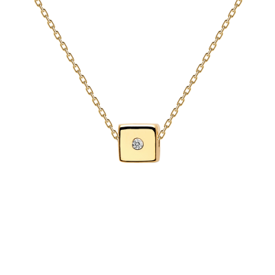 Collier Dice doré à l'or fin