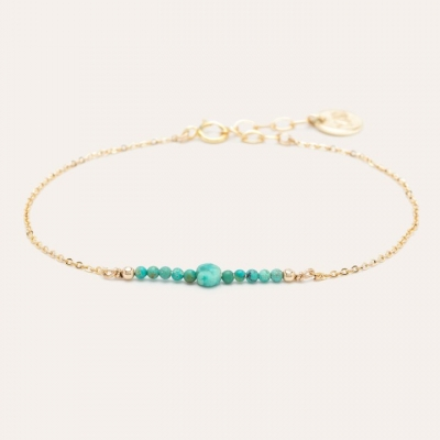 Bracelet Chance pierres Or jaune turquoise
