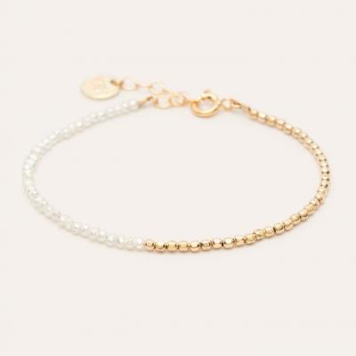 Bracelet Queen Bi-colore Or jaune blanc