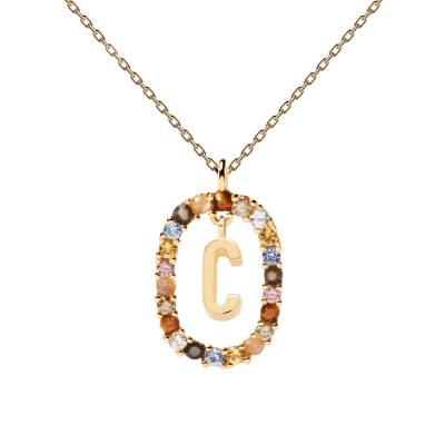 Collier Lettre ovale C Or
