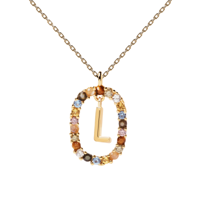 Collier Lettre ovale L Or