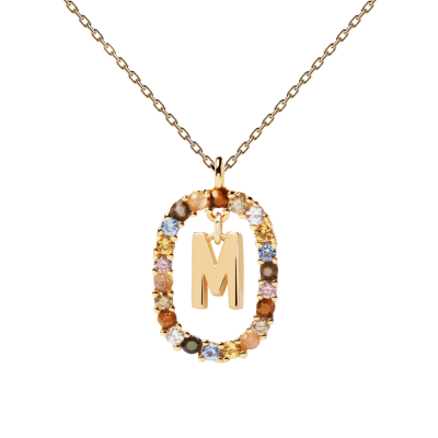 Collier Lettre ovale M Or