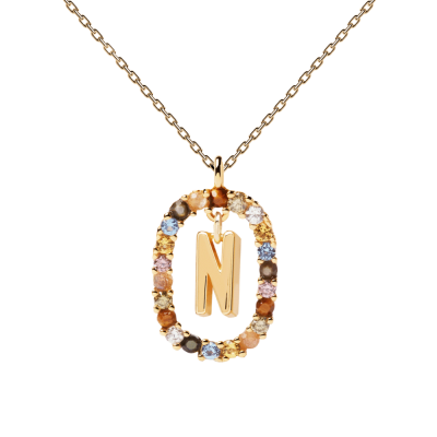 Collier Lettre ovale N Or