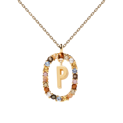 Collier Lettre ovale P Or