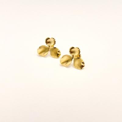 Boucles d'oreilles Jeanne doré à l'or fin