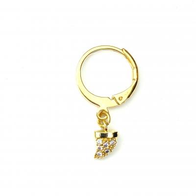 Mini créole mini corne cristal