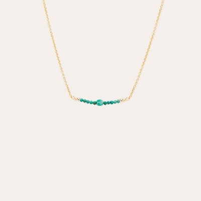 Collier Chance Turquoise Or jaune