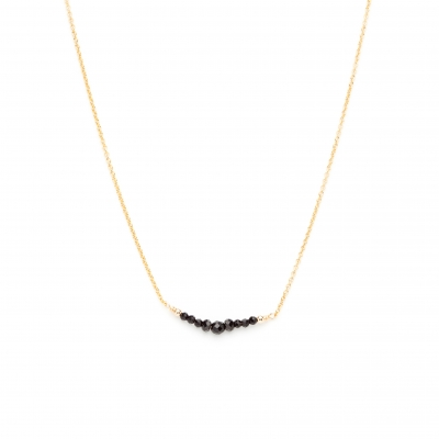 Collier Chance Spinelle Noire Or jaune