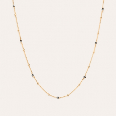 Collier Satellite Terrahertz Or jaune