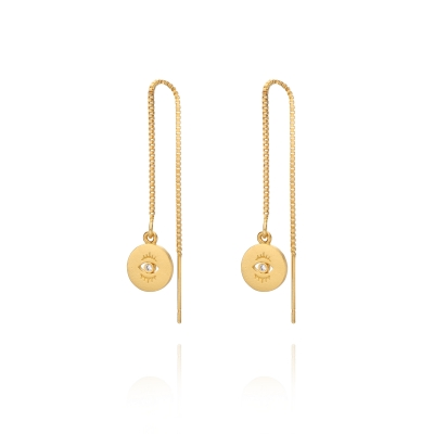 Boucles d'oreilles Albi dorées à l'or fin