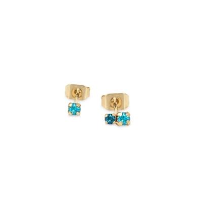 Boucles d'oreilles puces Amants turquoise