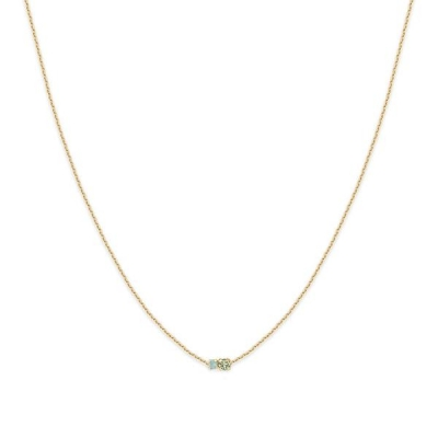 Collier court Amants chrysolite