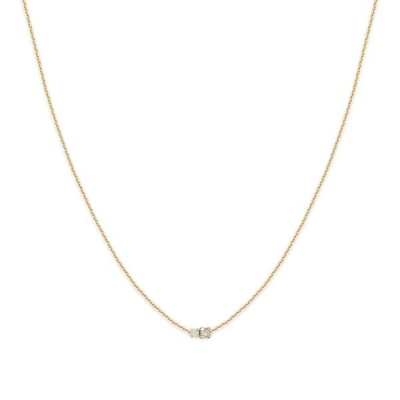 Collier court Amants cristal