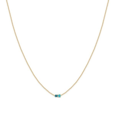 Collier court Amants turquoise