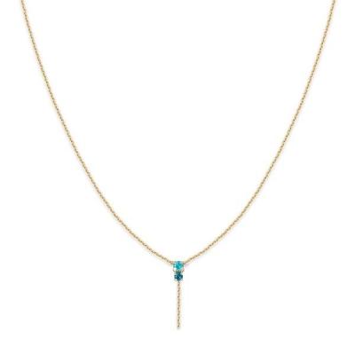Collier pendant Amants turquoise