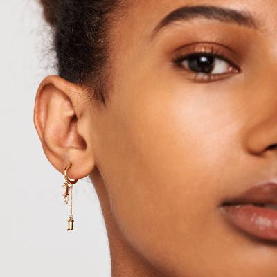 Boucles d'oreilles Salma dorées à l'or fin