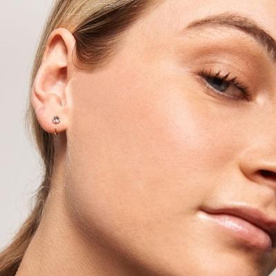 Boucles d'oreilles Astra dorées à l'or fin