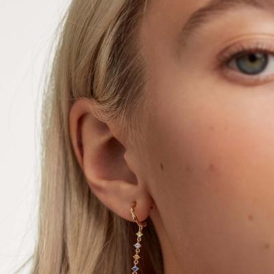Boucles d'oreilles Sage dorées à l'or fin