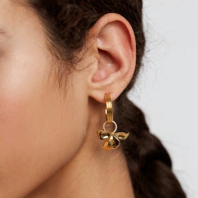 Boucles d'oreilles Ivy dorées à l'or fin