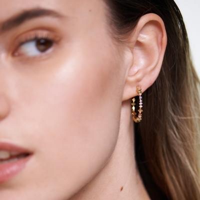 Boucles d'oreilles Halo dorées