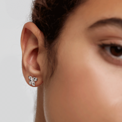 Boucles d'oreilles Narcise argent
