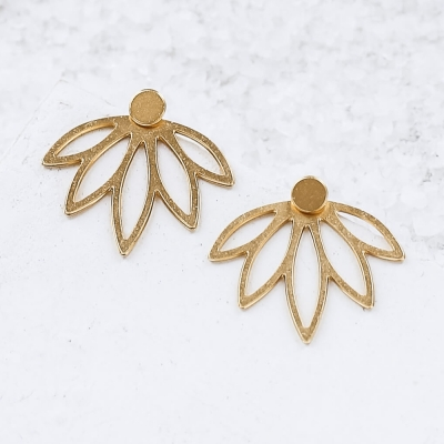 Boucles d'oreilles Sansa doré