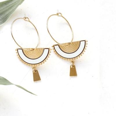 Boucles d'oreilles Swahili aqua