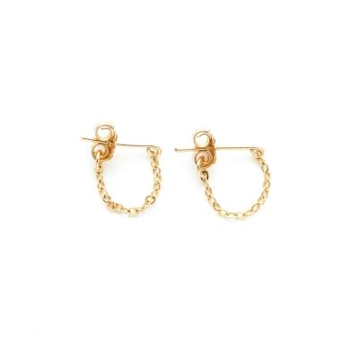 Boucles d'oreilles chaînette Cosmic dorées